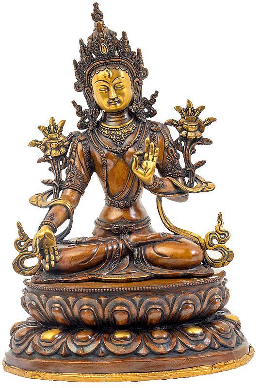 Tibetan Buddhist Goddess White Tara - Made in Nepal