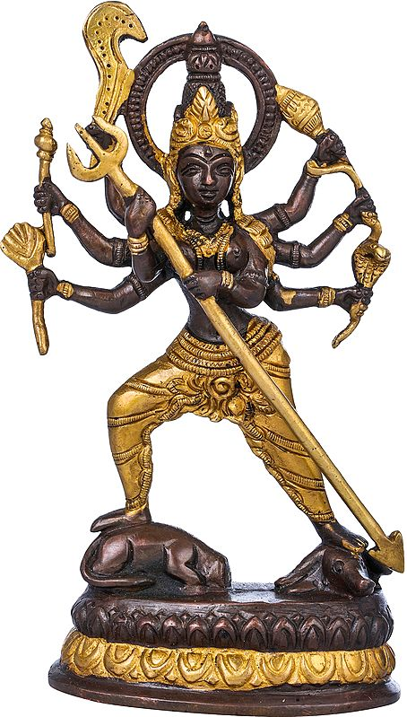 Astabhujadhari Durga, In Her Relentless Pursuit Of Adharma