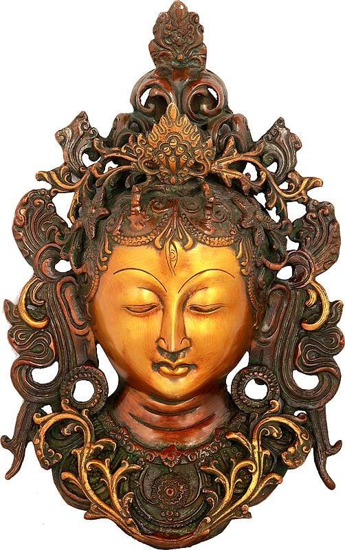 Tibetan Buddhist Wall Hanging Tara Mask