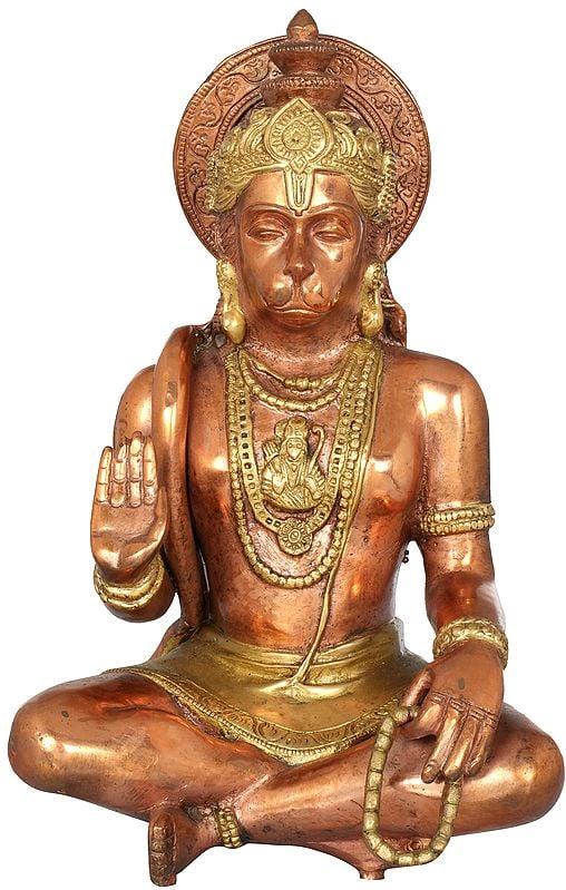 Seated Hanuman Blessing His Devotees