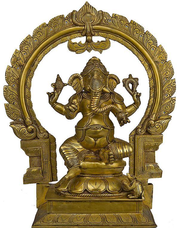 Four-Armed Ekadanta Ganesha