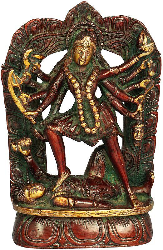 The Beauty Of Dashabhuja Kali