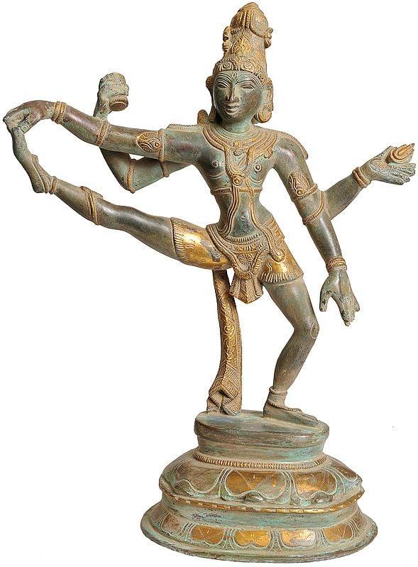Shiva-The Dancer in One Leg Raised Mudra
