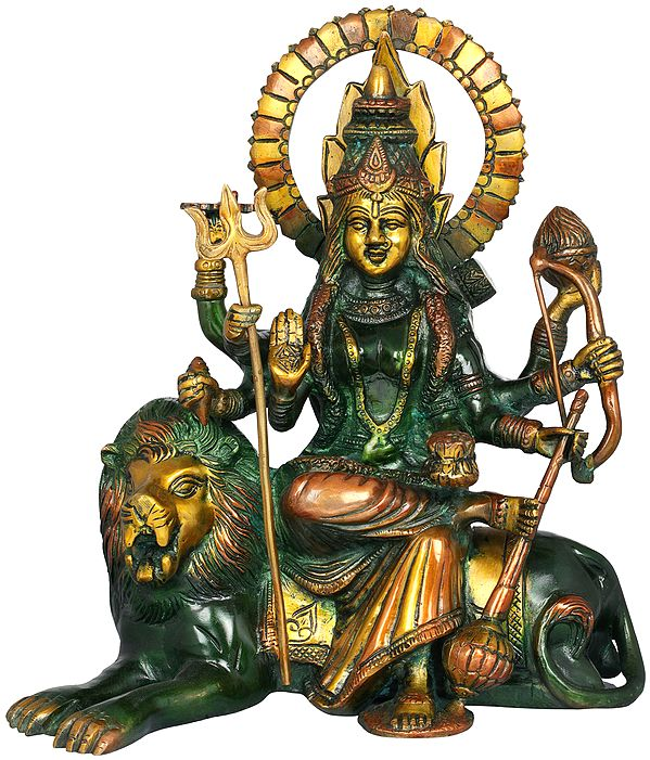 Ashtabhuja Durga, Her Leonine Beauty