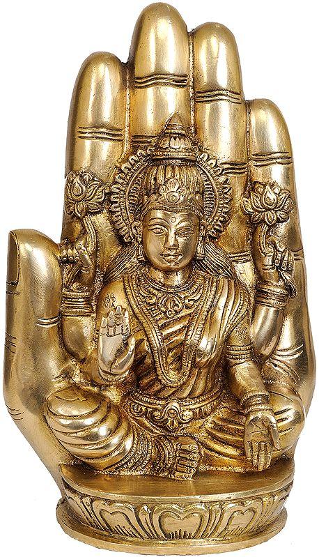 Lakshmi, Her Aureole The Shape Of A Palm
