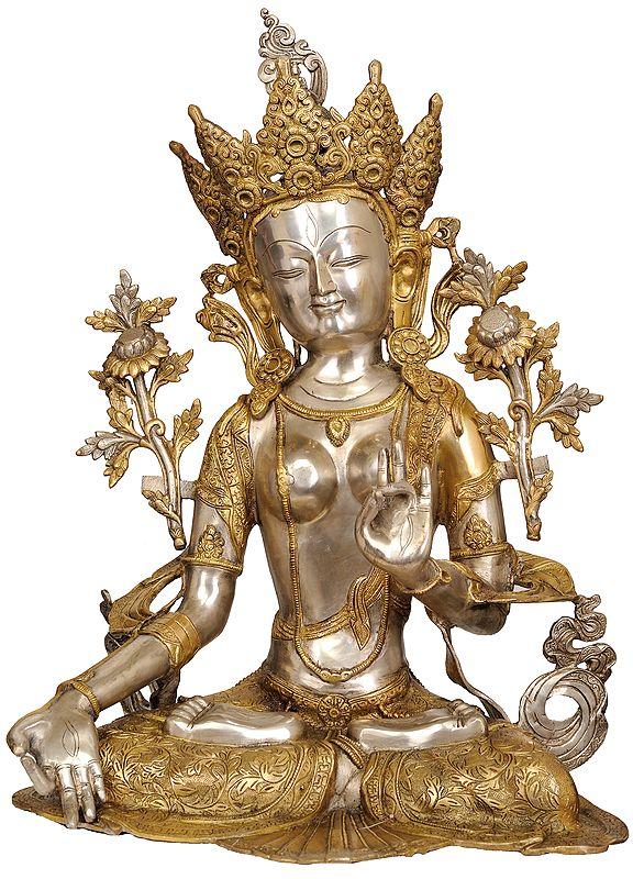 Seated Bodhisattva Devi White Tara