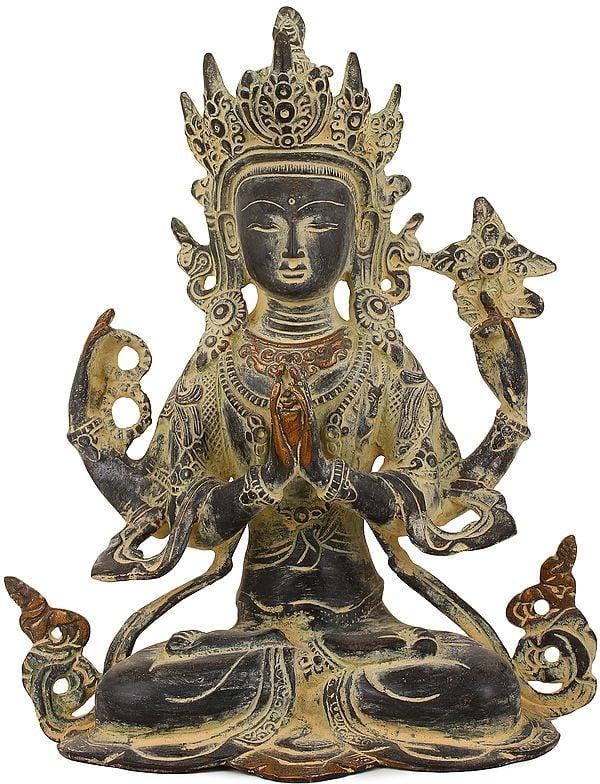 Four-armed Avalokiteshvara, Chenrezig In Tibetan