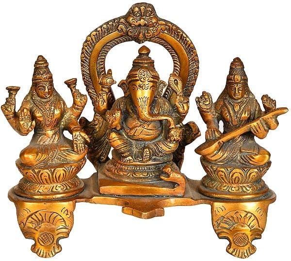 Lakshmi-Ganesha-Saraswati Trinity