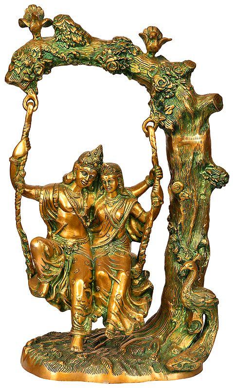 Radha-Krishna, Swinging In Amorous Bliss