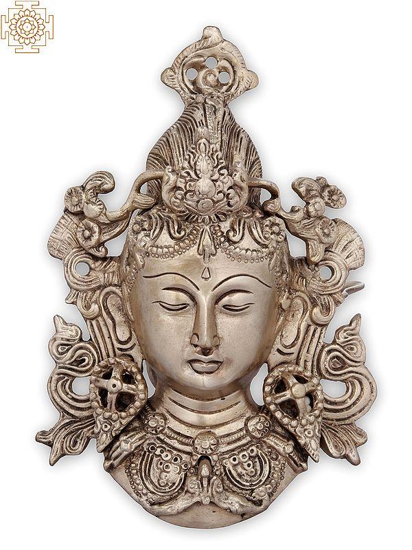 Wall-hanging Mask Of Tara, Tibetan Buddhist Deity