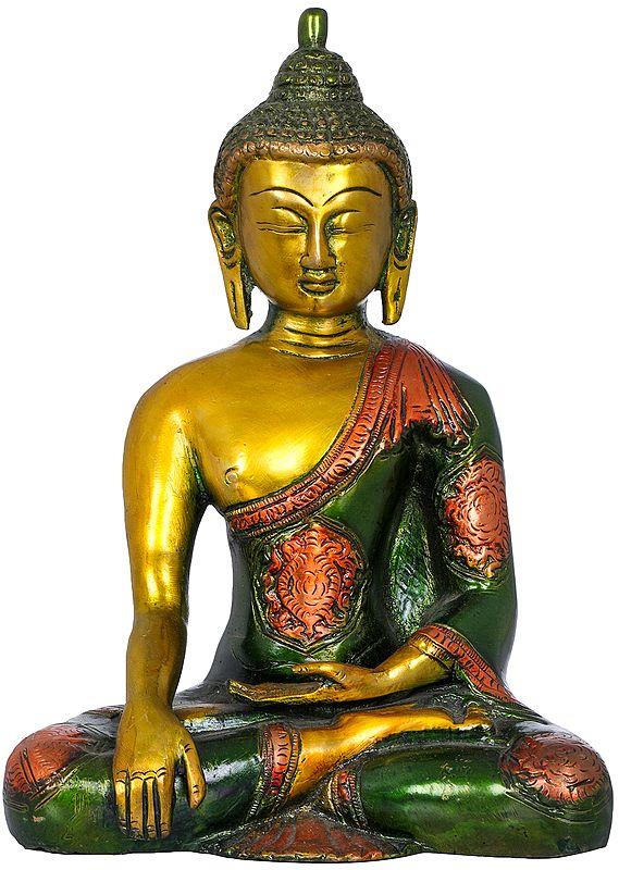 Buddha, His Hand In Bhumisparsha Mudra