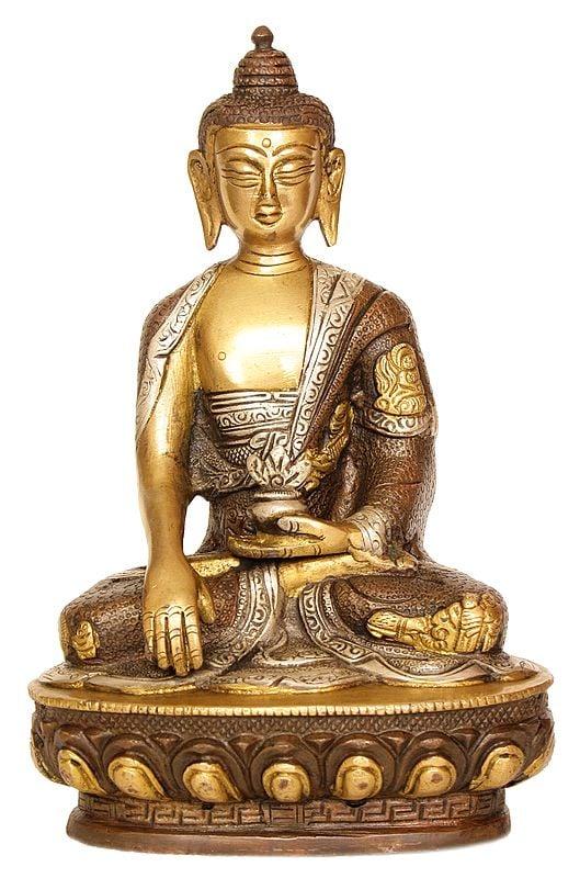The Resplendent Buddha, His Hand In Bhumisparsha Mudra