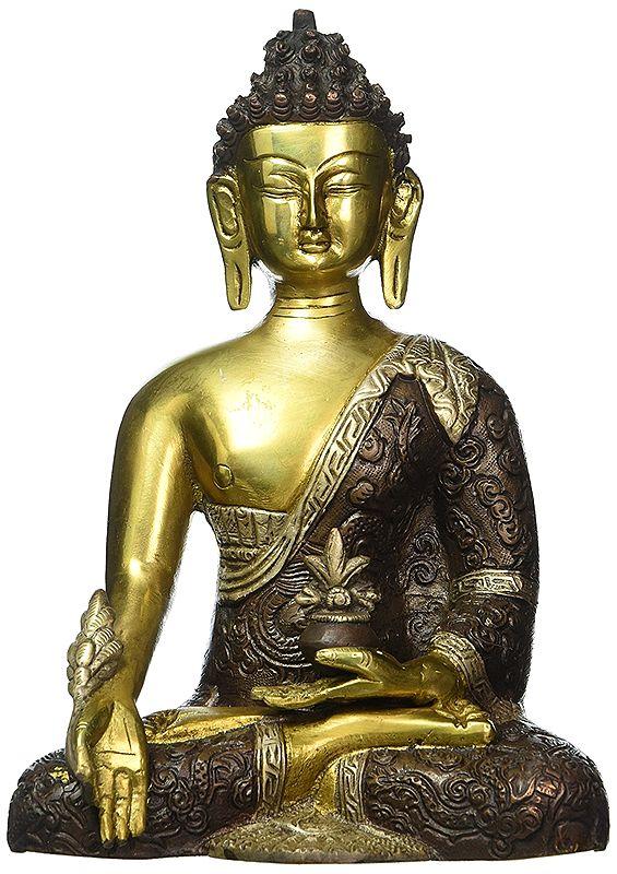 Tibetan Shakyamuni Medicine Buddha Statue Bronze Sculpture