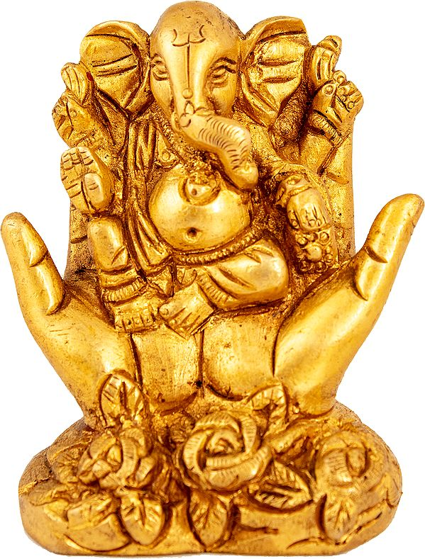 Ganesha Seated In The Fold Of One's Palms