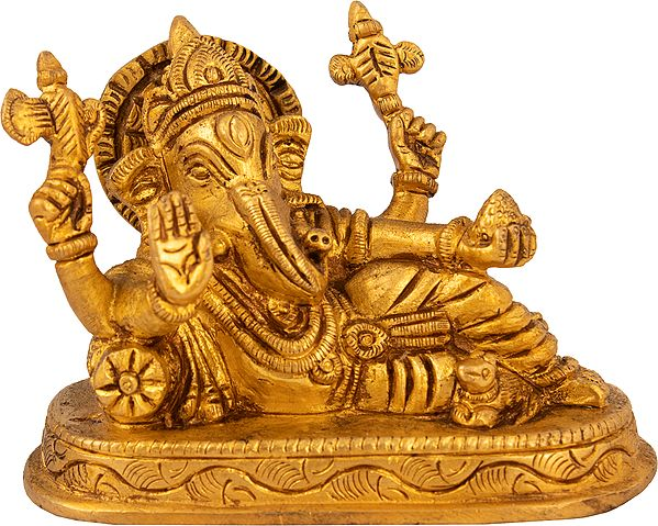 Ganesha Relaxes While Still Blessing You