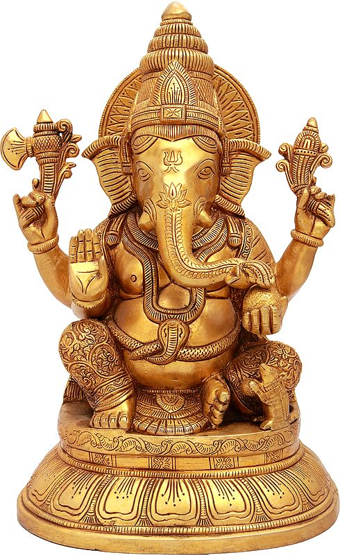 Finely Carved Lord Ganesha