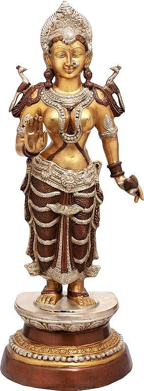 Large Size Goddess Lakshmi Granting Abhaya