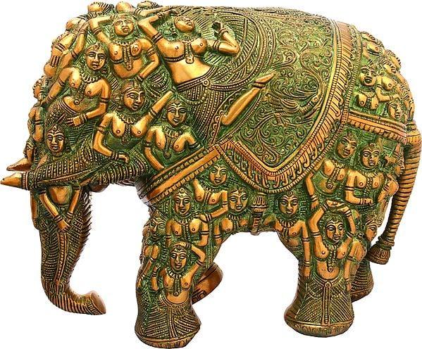 Elephant Made of Lady Figures (Nari Kunjar)