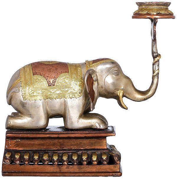 Elephant Lifting Lotus Lamp