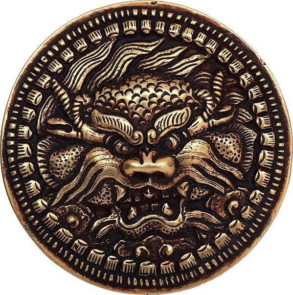 Tibetan Buddhist Kirtimukha Belt Buckle - Made in Nepal