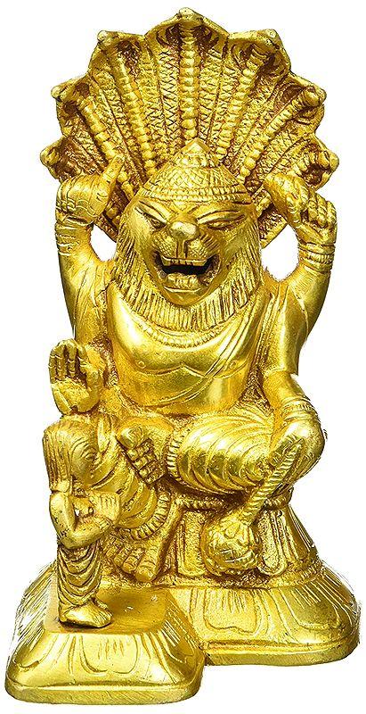 Narasimha Deity Brass Statue