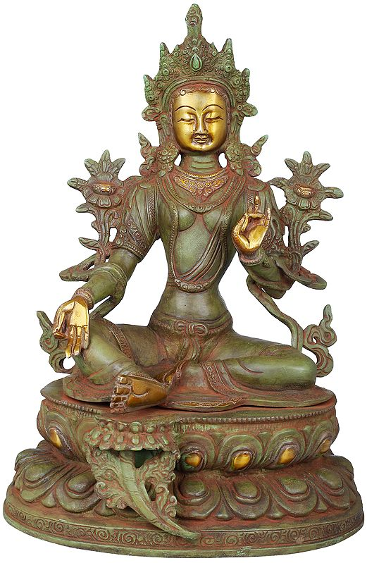 The Matchless Beauty Of Green Tara