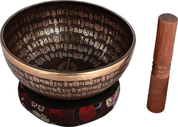 Tibetan Buddhist Vishwa-Vajra Singing Bowl From Nepal