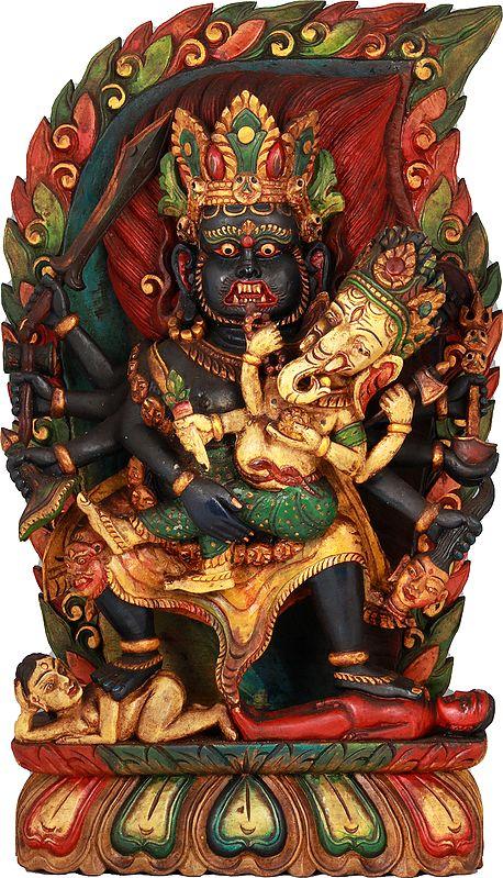 Bhairava with His Son Ganesha