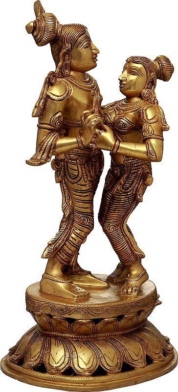 Radha Inching Closer To Her Krishna