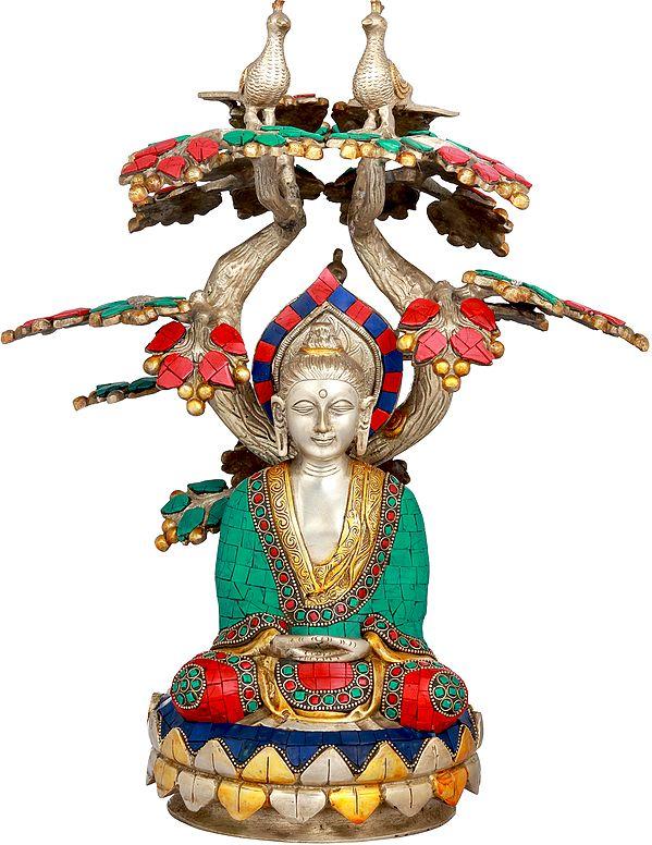 Lord Buddha Meditating Under The Bodhi Tree - Tibetan Buddhist