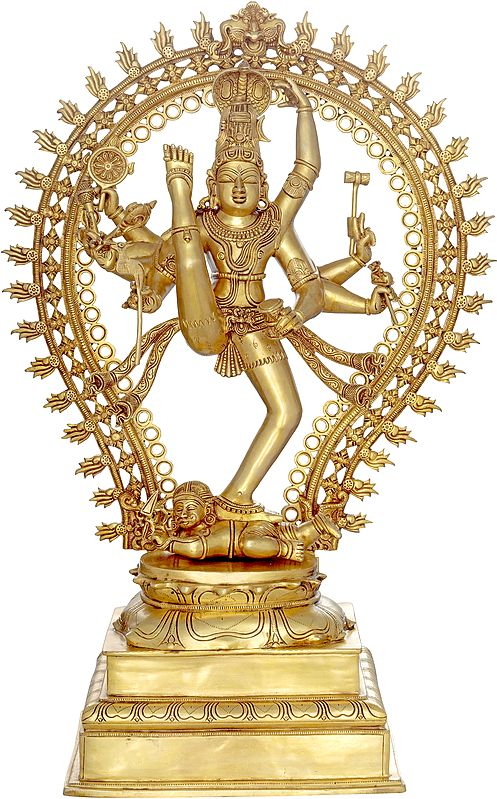 The Cosmic Shiva, The Nataraja in Ananda-Tandava (Large Size)
