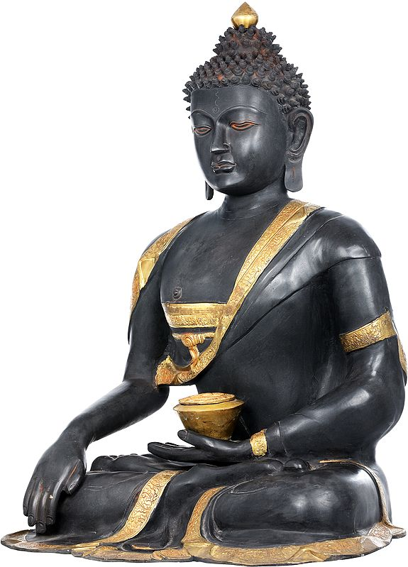 Large Size Buddha in Earth Touching Gesture (Tibetan Buddhist)