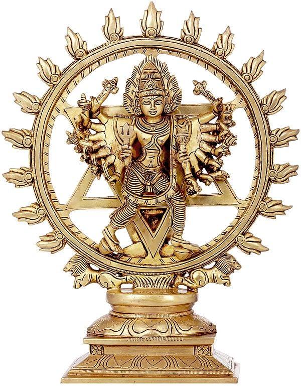 Vishnu as Lord Sudarshana and Narasimha on Reverse