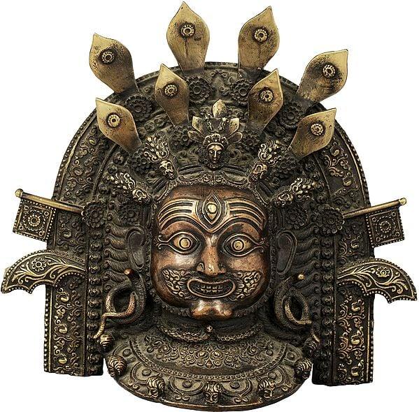 Wall Hanging Tibetan Buddhist Mahakala Mask - Made in Nepal