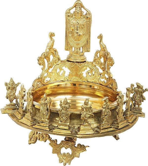 Tirupati Balaji Urli With Ten Incarnations Of Lord Vishnu