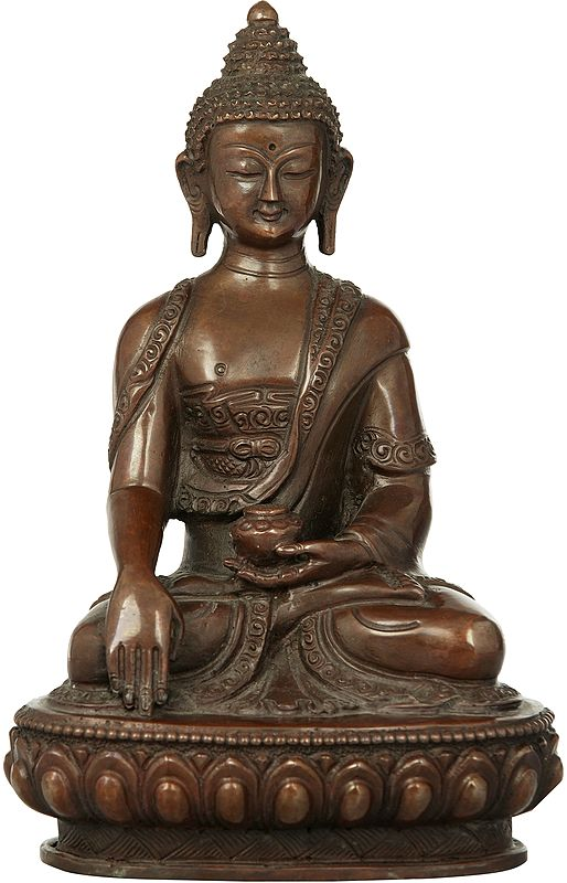 Buddha in the Bhumisparsha Mudra - Made in Nepal