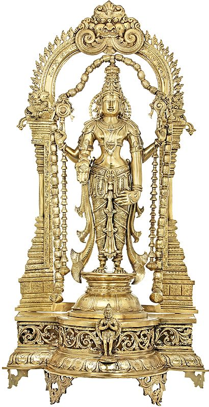 Graciously Adorned, Larger-Than-Life Lord Vishnu