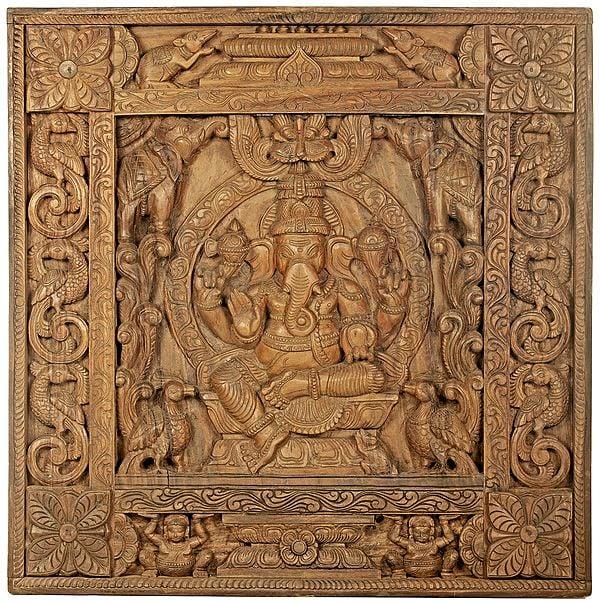 The Throne Ganesha Panel