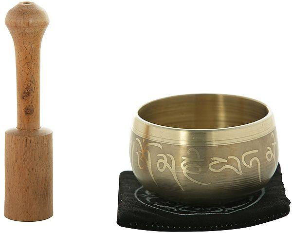 Tibetan Buddhist Small Singing Bowl with Mantras
