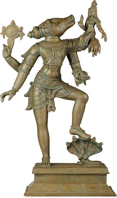 Varaha Avatara of Lord Vishnu with Bhudevi