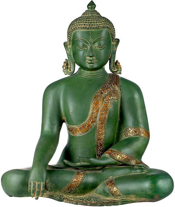 Buddha in the Bhumisparsha Mudra - Tibetan Buddhist