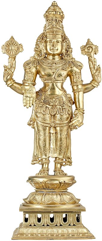 Magnificent Bronze Cast of Lord Vishnu - Large Size