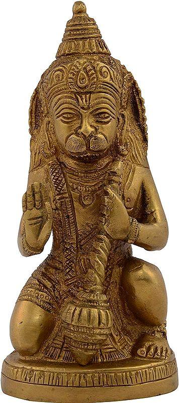 Seated Lord Hanuman