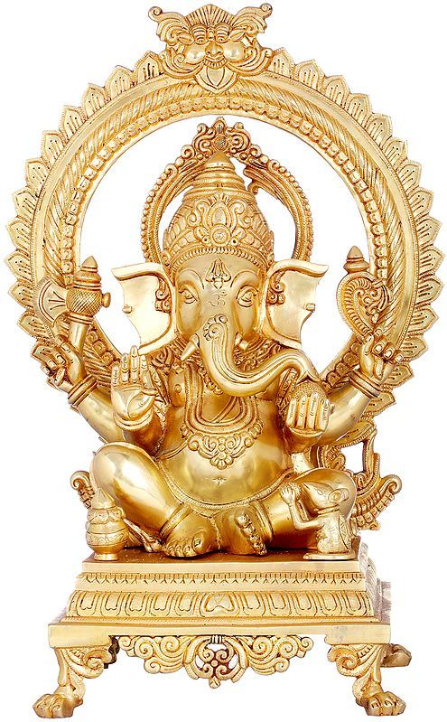 Prabhavali Ganesha, A Naturalistic Rose Gold Composition