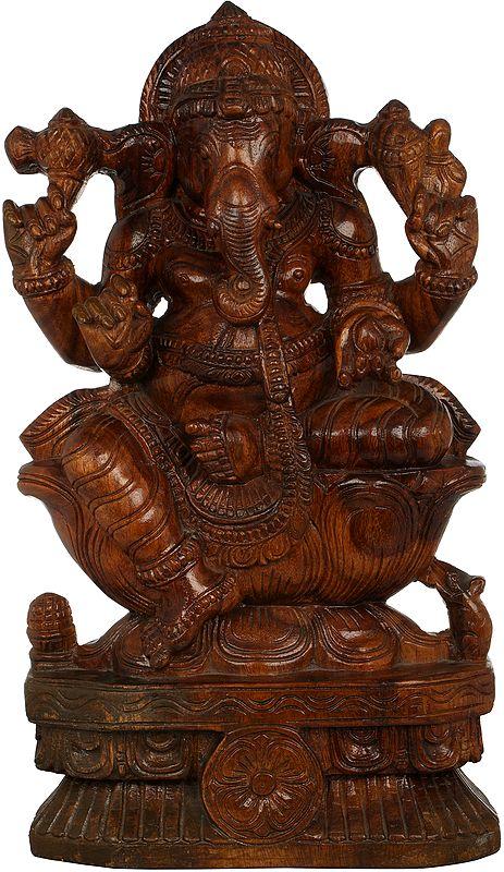 Shri Ganesha Seated on Lotus