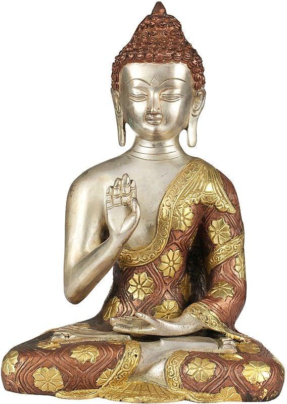 Lord Buddha In Abhaya Mudra - Tibetan Buddhist