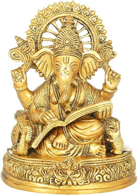 Lord Ganesha Scripting The Mahabharata