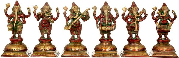 Six Musical Ganeshas in Concert