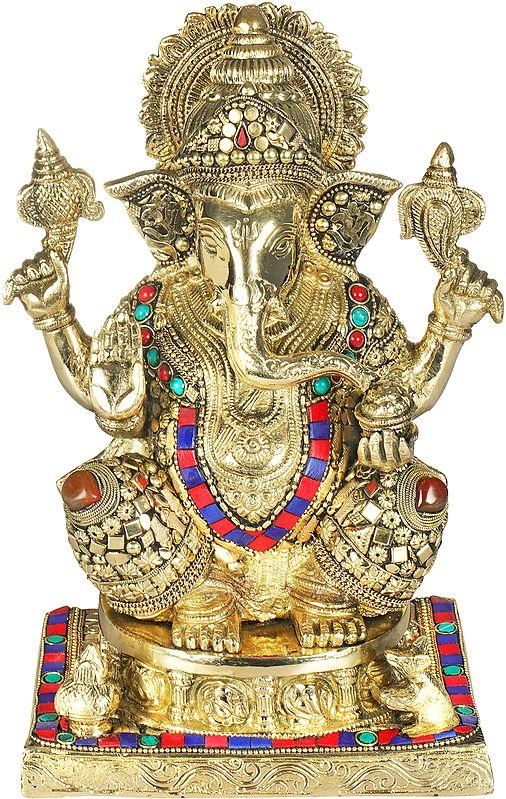 A Fine Inlay Ganesha