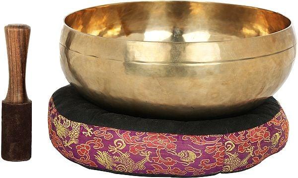 Tibetan Buddhist Superfine Large Singing Bowl - Made in Nepal